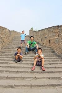 世界遺産の万里の長城にて